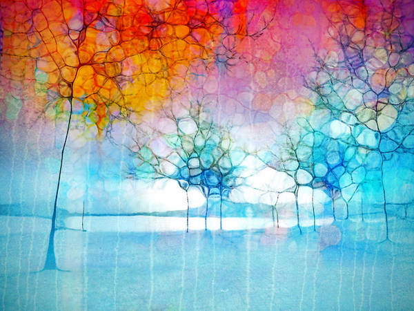 The Departing Trees Art Print
