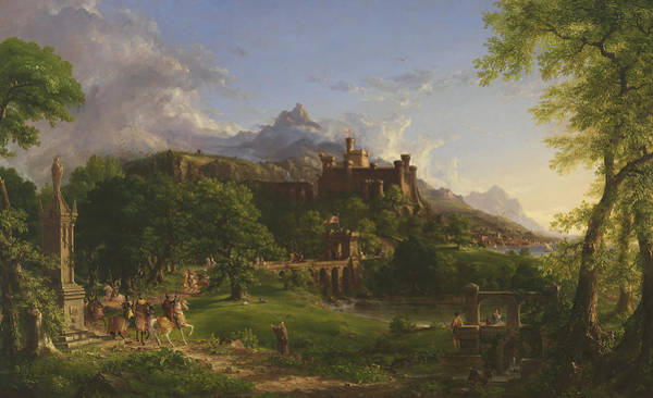 1837 Painting - The Departure by Thomas Cole