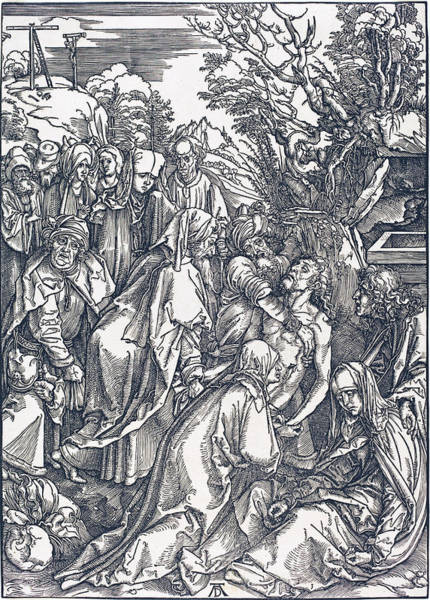 Drawing - The Deposition by Albrecht Durer