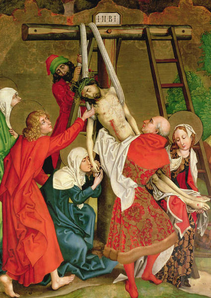 Church Of The Cross Painting - The Deposition From The Altarpiece Of The Dominicans by Martin Schongauer