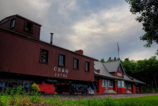 Photograph - The Depot Under Cloudy Skies by Dale Kauzlaric