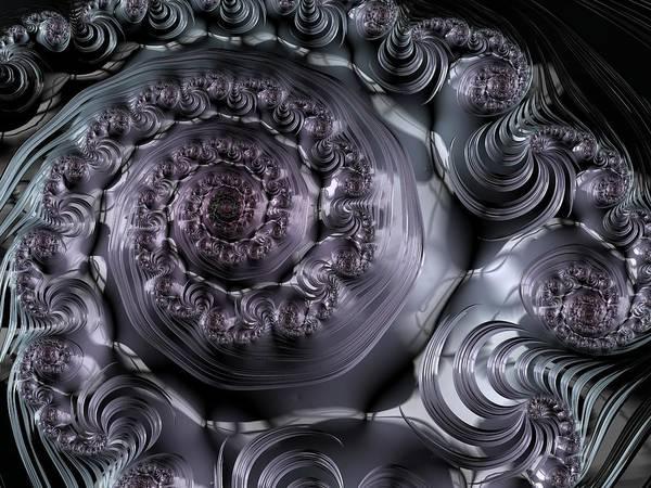 Digital Art - The Depth Of A Spiral Eye by Paisley O'Farrell