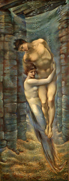 Drawing - The Depths Of The Sea by Edward Burne-Jones