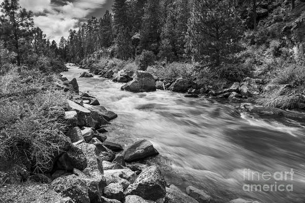 Whitewater Falls Photograph - The Deschutes River In Black And White by Twenty Two North Photography