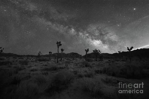 Thru Photograph - The Desert Night Bw by Michael Ver Sprill