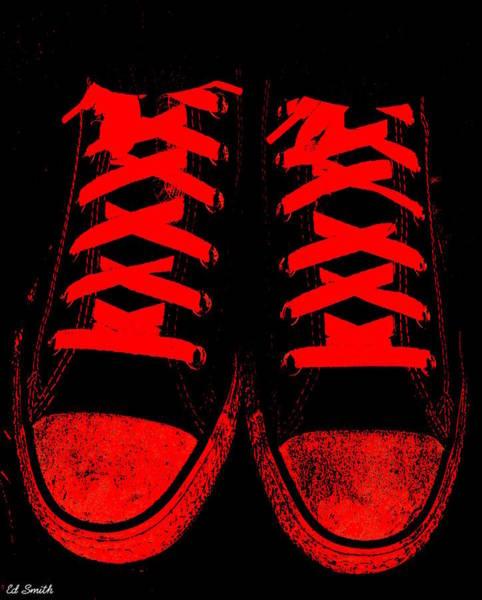 The Devil Wears Converse Art Print