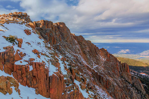 Fourteener Photograph - The Devils Playground From Pikes Peak by Luis A Ramirez