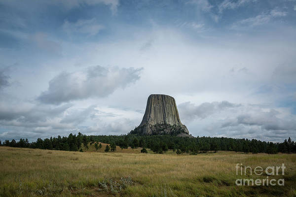 Close Encounters Wall Art - Photograph - The Devils Tower  by Michael Ver Sprill