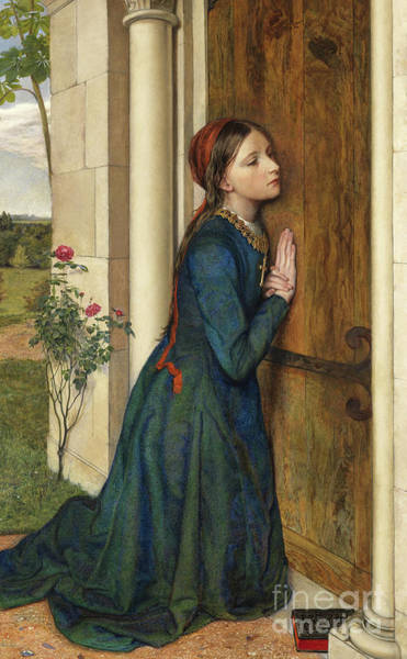 Wall Art - Painting - The Devout Childhood Of Saint Elizabeth Of Hungary, 1852 by Charles Alston Collins