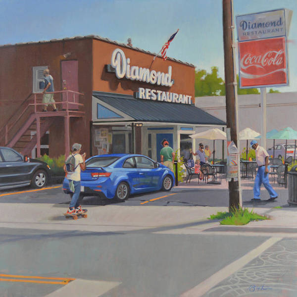 The Restaurant Painting - The Diamond by Todd Baxter