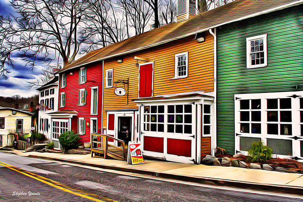 Wall Art - Digital Art - The Diamondback Tavern Of Ellicott City by Stephen Younts