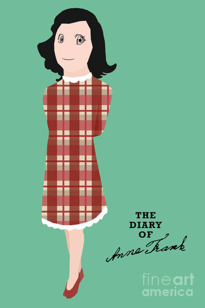 Front Room Digital Art - The Diary Of Anne Frank Book Cover Movie Poster Art 1 by Nishanth Gopinathan