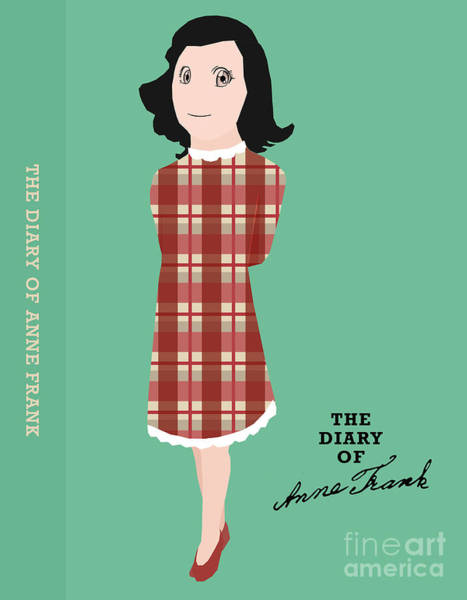 Front Room Digital Art - The Diary Of Anne Frank Book Cover Movie Poster Art 2 by Nishanth Gopinathan