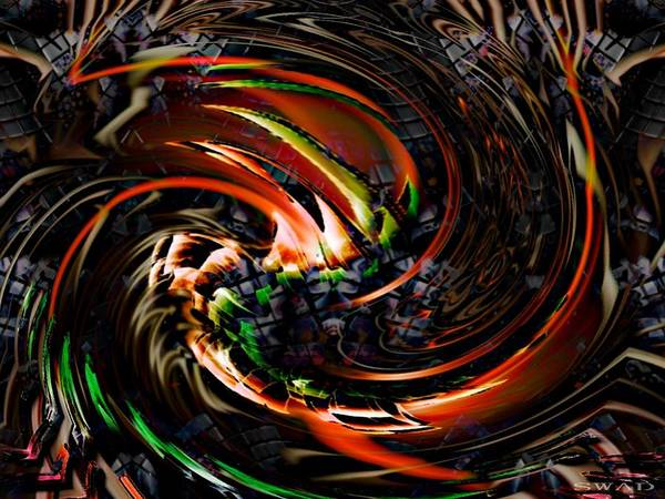 Digital Art - The Digital Swirl by Swedish Attitude Design