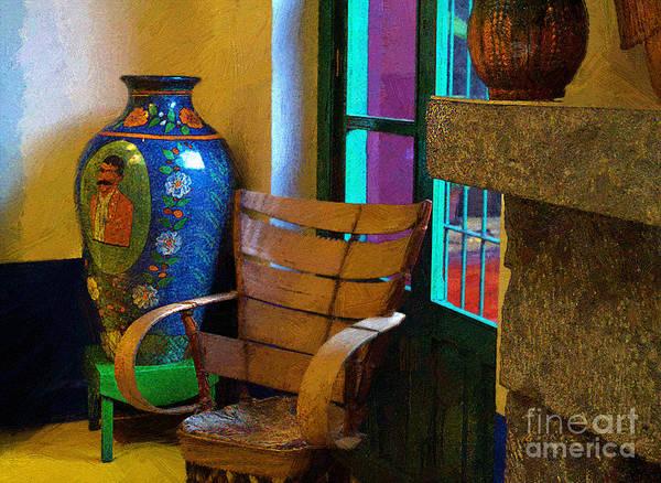 Photograph - The Dining Room Corner In Frida Kahlo's House by John  Kolenberg