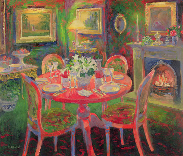 Fireplace Painting - The Dining Room by William Ireland