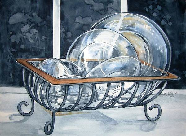 Painting - The Dishes Are Done by Jane Loveall