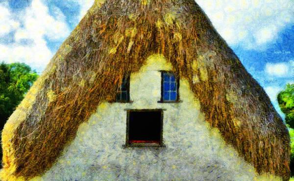 Hairdo Digital Art - The Disheveled House - Da by Leonardo Digenio