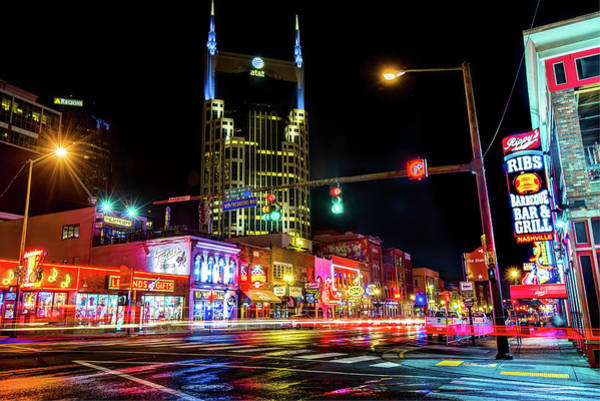 Photograph - The District - Nashville Tennessee by Gregory Ballos