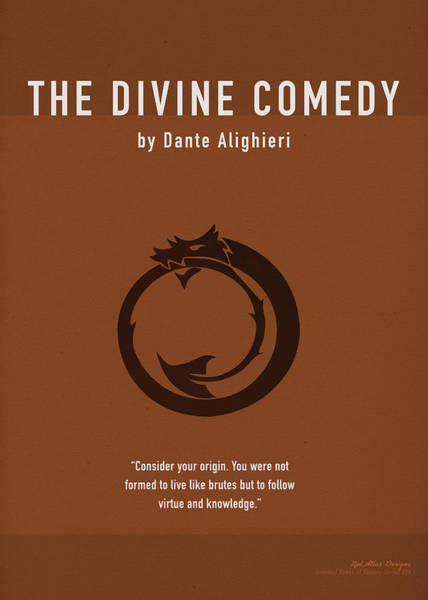 Greek Mixed Media - The Divine Comedy Greatest Books Ever Series 005 by Design Turnpike