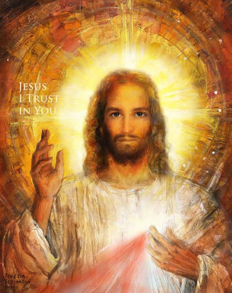 Wall Art - Painting - The Divine Mercy, Jesus I Trust In You - 3 by Terezia Sedlakova