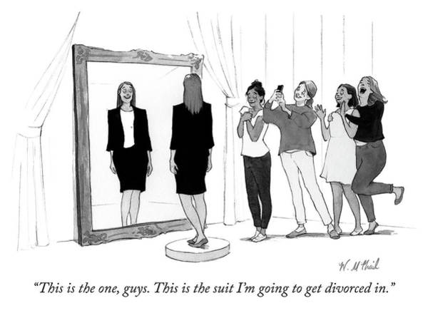 Divorce Drawing - The Divorce Suit by Will McPhail