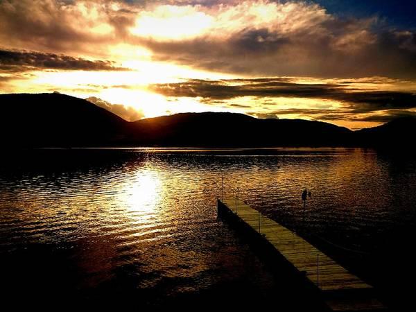Photograph - The Dock - 2015-05-26 Skaha Lake Penticton by Guy Hoffman