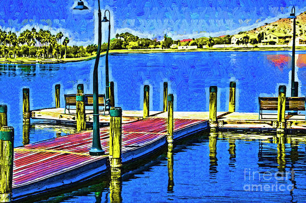Digital Art - The Dock In Fauvism by Kirt Tisdale