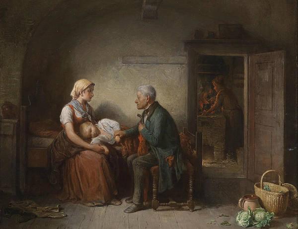 Austrian Painting - The Doctor  by Friedrich Friedlander