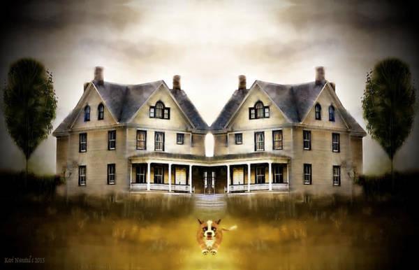 Victorian House Digital Art - The Dog House by Kari Nanstad