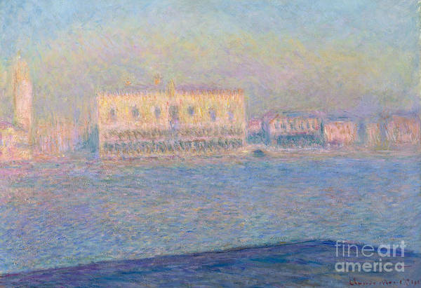 Wall Art - Painting - The Doge's Palace Seen From San Giorgio Maggiore, 1908 by Claude Monet