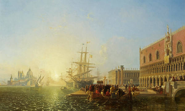 Set Sail Painting - The Doge's Palace, Venice by William James Muller