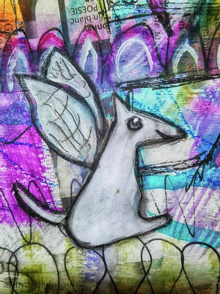 Mixed Media - The Doggie Elf by Mimulux patricia No
