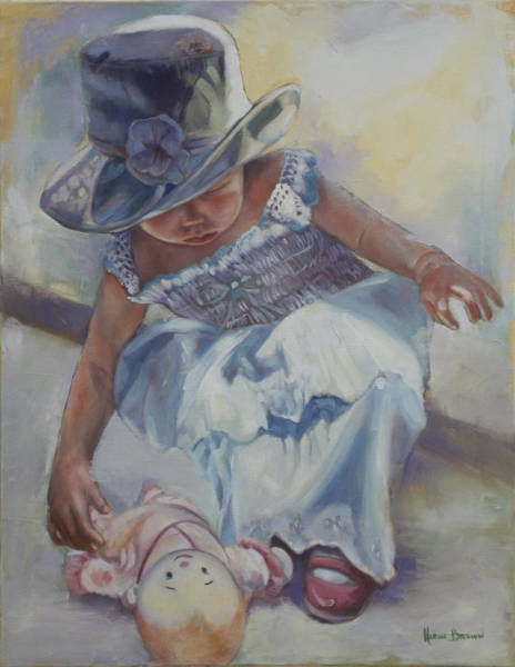 Wall Art - Painting - The Doll by Harvie Brown