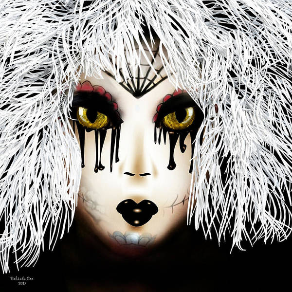 Digital Art - The Doll With The White Hair by Artful Oasis