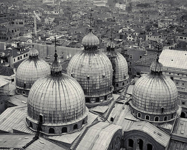 Photograph - The Domes Of San Marco, Venice, Italy by Richard Goodrich