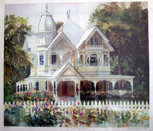 Wall Art - Painting - The Donnelly House by Nancy Raborn