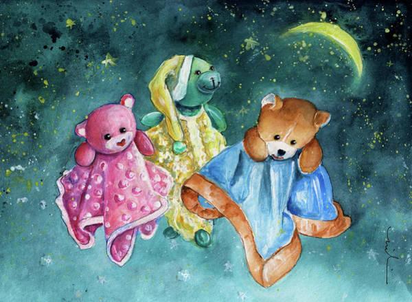Benidorm Wall Art - Painting - The Doo Doo Bears by Miki De Goodaboom