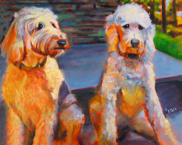 Wall Art - Painting - The Doodle Sisters by Kaytee Esser