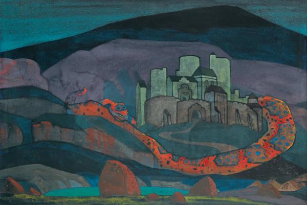 Wall Art - Painting - The Doomed City by Nikolai Roerich