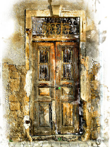 Digital Art - The Door by Charlie Roman