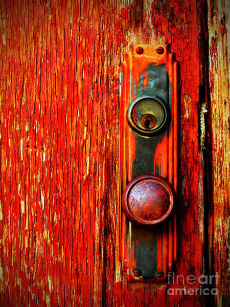 Peeling Photograph - The Door Handle  by Tara Turner
