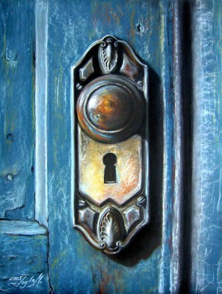 Door Wall Art - Painting - The Door Knob by Leyla Munteanu