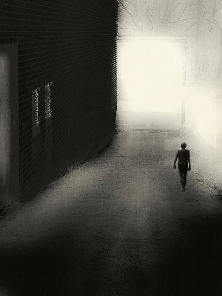 Light And Shadow Digital Art - The Door by Melissa D Johnston