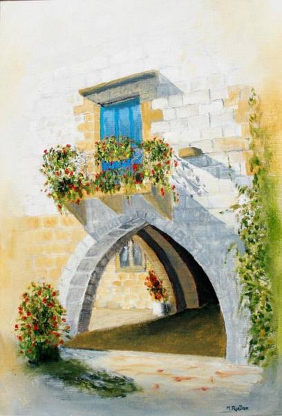 Wall Art - Painting - The Dordogne  by Mick Ruellan