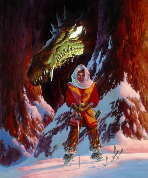 Summoning Wall Art - Painting - The Dragon In Winter by Richard Hescox