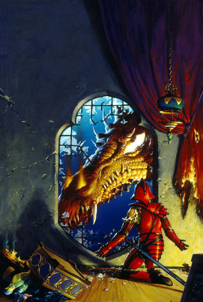 Mage Wall Art - Painting - The Dragon Lord by Richard Hescox