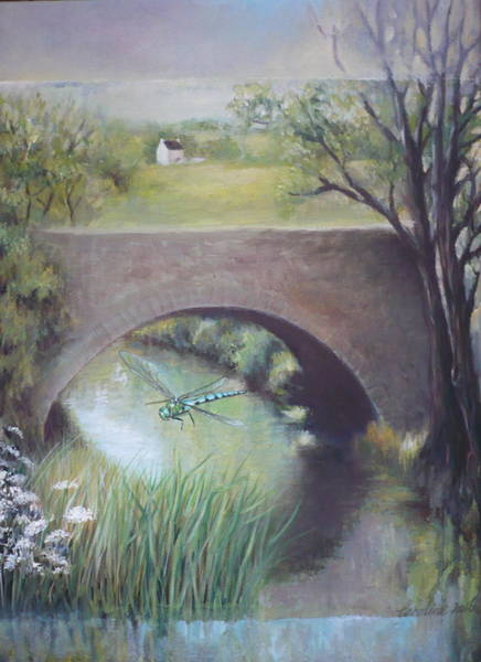 Painting - The Dragonfly by Caroline Philp
