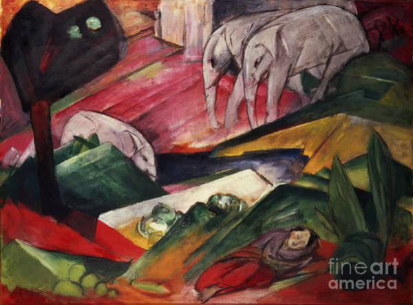 Franz Painting - The Dream  by Franz Marc