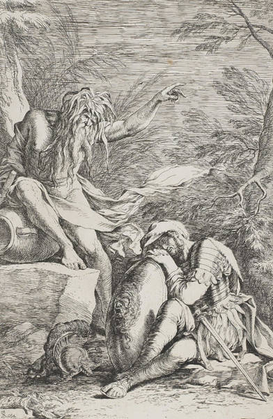 Armor Drawing - The Dream Of Aeneas by Salvator Rosa